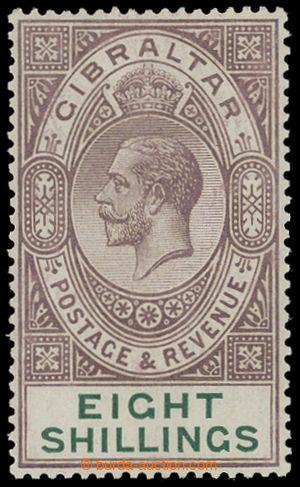 199416 - 1924 SG.101, Jiří V. 8Sh tmavě fialová / zelená, křídový pap
