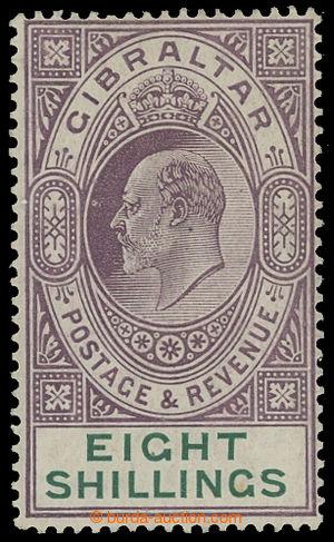 199419 - 1911 SG.74, Edvard VII. 8Sh fialová / zelená, průsvitka Mult
