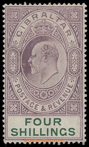 199421 - 1910 SG.73, Edvard VII. 4Sh fialová / zelená, průsvitka Mult