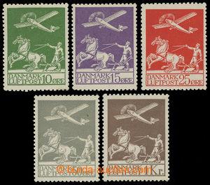 199425 - 1925-1929 Mi.143-145, 180-181, Letecké 10Ore-25Ore + 50Ore-1