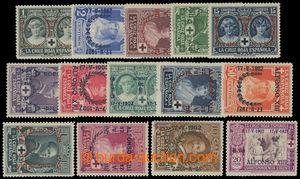 199428 - 1927 Mi.322-335, Jubilejní korunovace Alfonse XIII. 1C -10Pt