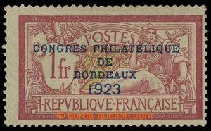 199434 - 1923 Mi.152, Merson 1Fr s přítiskem Congres Philatelique de