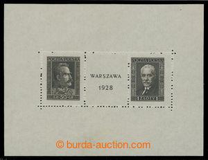 199440 - 1928 Mi.Bl.1, aršík Výstava známek, správný rozměr 115x88mm;