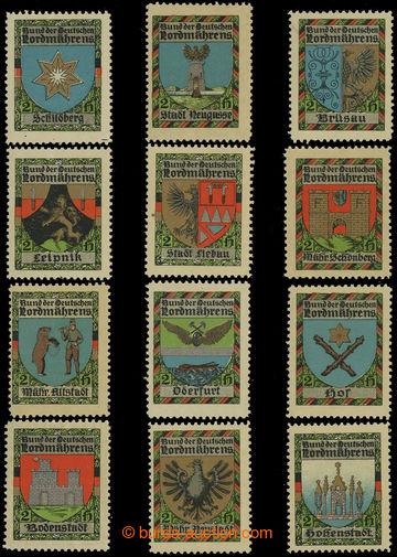 199489 - 1905 RAKOUSKO  / Bund der Deutschen Nordmährens  sestava 12k