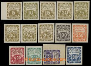 199516 - 1919 Pof.DL1-14, Ornament 5h - 2000h, kompletní série; svěží