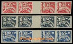 199521 -  Pof.354-356Ms(4), hodnoty 2K, 5K a 6K, svislá 4-zn. meziarš