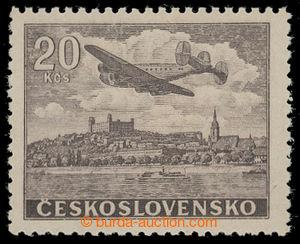 199522 - 1946 Pof.L22N, NEVYDANÁ, Letecké motivy 20Kčs hnědá; bezvadn