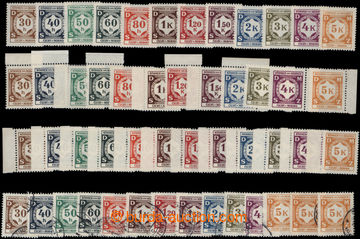 199527 - 1941 Pof.SL1-12, Official I., comp. of 4 complete sets, 3x m
