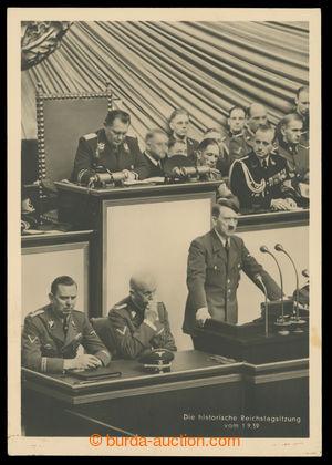 199558 - 1939 ZASEDÁNÍ ŘÍŠSKÉHO SNĚMU 1939 - čb fotopohlednice, mj. A