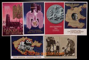 199560 - 1938-1940 sestava 6ks různých propagandistických pohlednic,