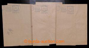 199561 - 1944 sestava 3ks kompletních adresních rukávů s modrými otis