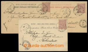 199563 - 1897 TURECKÁ POŠTA:  3 pohlednice - dlouhé adresy adresované