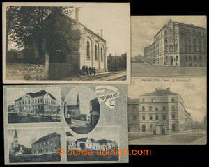 199576 - 1918-1920 LIBEŇ - V zahradách, 2-okénková čb pohlednice, na