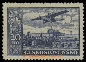 199593 - 1930 Pof.L14C, Definitivní vydání 20Kč šedomodrá, vzácné zou