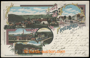 199605 - 1898 BŘIDLIČNÁ (Frýdlant nad Moravicí) - barevná litografick