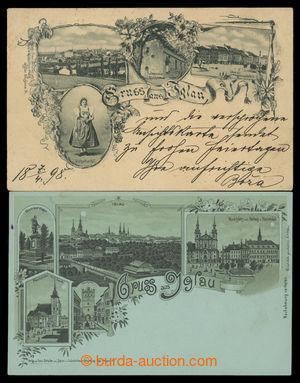 199611 - 1898 JIHLAVA - sestava 2ks pohlednic, 1x dvojbarevná litogra