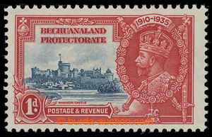 199703 - 1935 SG.111d, Jubilee George V. 1P, FLAGSTAFF ON RIGHT-HAND