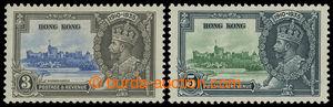 199726 - 1935 SG.133c-134c, Jubilejní Jiří V. 3C a 5C, obě s LIGHTNIN