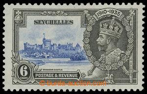 199766 - 1935 SG.128b, Jubilejní Jiří V. 6C, SHORT EXTRA FLAGSTAFF; b