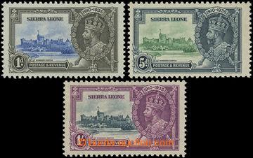 199773 - 1935 SG.181a, 183a, 184a, Jubilejní Jiří V. 1P, 5P a 1Sh (pa