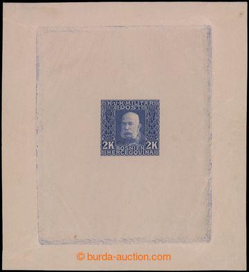 199828 - 1912 Ferch.81, Franz Joseph I. 2K, PLATE PROOF in blue-viole
