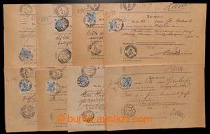 199988 - 1900-1908 [SBÍRKY]  sestava 24ks kompletních tiskopisů Zpětn
