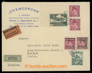 199995 - 1939 commercial TESTER addressed to to Italy with mixed fran