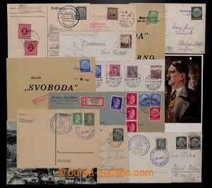 199998 - 1938-1944 sestava 15ks celistvostí ze Sudet, provizorní raz.