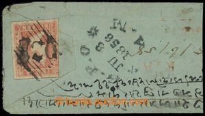 200041 - 1858 dopis do Bombaje vyfr. zn. SG.14, Viktorie 1A dull red