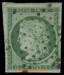 200059 - 1849 Mi.2a, Ceres 15C zelená, bezvadný kus s raz. étoile; ka