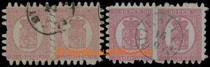 200066 - 1866 Mi.9Bx, Znak 40Pen, dvě vodorovné 2-pásky, 1x neobvyklé