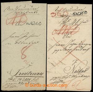 200099 - 1821-1825 ČESKÉ ZEMĚ / 2 R-dopisy s raz. VON NACHOD a NACHOD