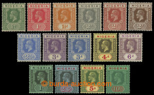 200147 - 1921 SG.15-29, Jiří V. 1/2P-10Sh; bezvadná série, shilingové