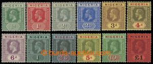 200148 - 1914 SG.1-12, Jiří V. 1/2P-1£, zastoupeny různé barevné