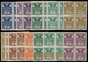 200199 -  Pof.143A-150A, 144B, 146B, 5h modrá - 30h fialová, nomináln