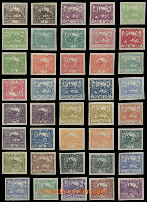200210 -  Pof.1-26, základní nezoubkovaná série, celkem 39ks vč. různ