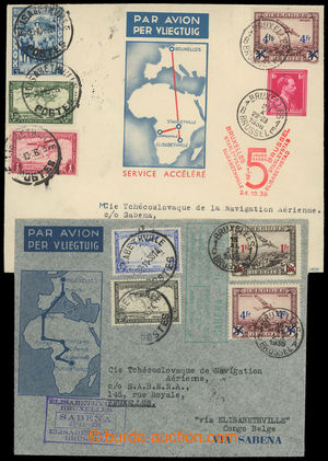 200218 - 1935-1936 sestava 2ks Let-celistvostí zaslaných do Elisabeth