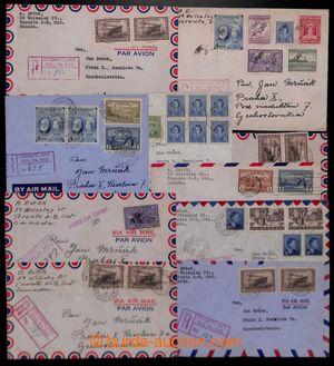 200222 - 1945-1948 sestava 10ks R+Let-dopisů s bohatými frankaturami