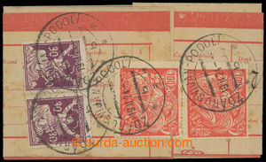 200253 - 1924 telegramní form/blank with monogram franked with. and
