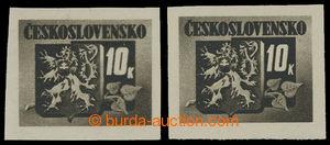 200286 - 1945 Pof.371, Bratislavské 10K černá, II. typ - úzká nu