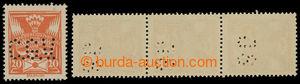 200351 - 1920 nepoužité zn. Holubice 20h s perfiny, 1x svislá 3-páska