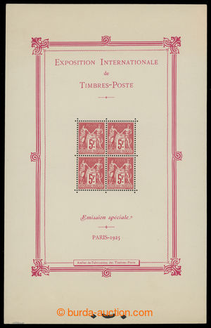 200506 - 1925 Mi.Bl.1, aršík Výstava PARIS 1925, rozměr 140x221mm; st