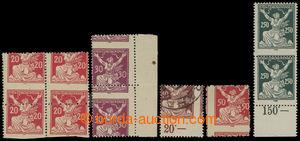 200526 -  Pof.151A, 153A, 154A, 155A, 161A  sestava 6 zn., pásek a bl
