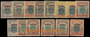 200578 - 1906 SG.11-22, kompletní přetisková emise Koruna vydání Labu