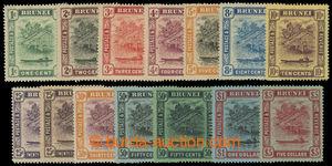 200586 - 1908-1922 SG.34-47, Brunei River, pozměněné barvy vydání 190