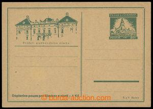 200636 - 1945 SLAVKOV  revoluční vydání CDV s přitištěnou zn. 60h Moh