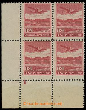 200672 -  Pof.L8B, Definitivní vydání 1Kč červená, pravý dolní rohový