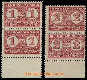 200694 - 1930 Pof.PD7A-PD8A, Definitivní vydání 1Kč a 2Kč, svislé 2-p
