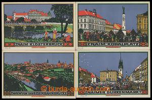 200695 - 1910 ZNOJMO - sestava 4 ks barevných uměleckých pohlednic vy