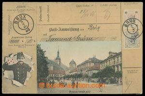 200697 - 1905 MOST (Brüx) - Minoritplatz, koláž s peněžní poukázkou,